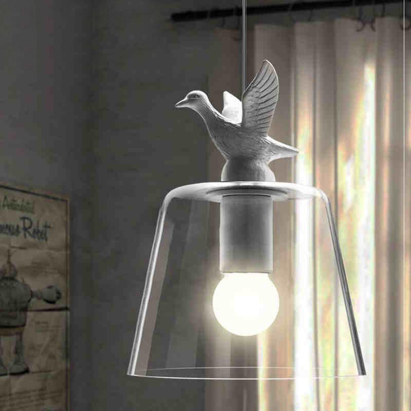 Hot Chandelier Reto Duck E27 Pendant Lamp Vintage Fashion Rustic Light Suspension Luminaire White Single Head Light For Child
