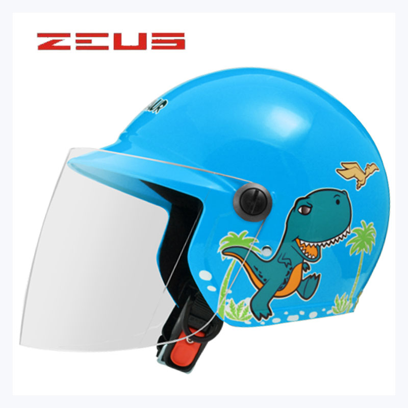 ZEUS Children Motorcycle Helmet Motorbike Electric Bicycle Ridng Helmets Half Face Four Seasons Capacetes De Motociclista