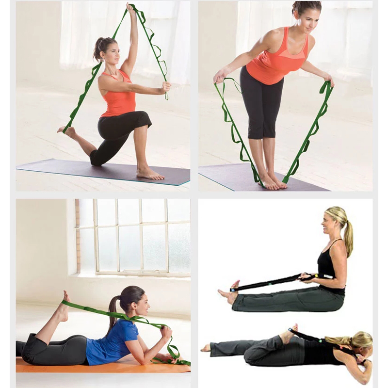 Training Mat Strap: Hot Yoga Elastic Resistance Band Multi Use Stretch Out