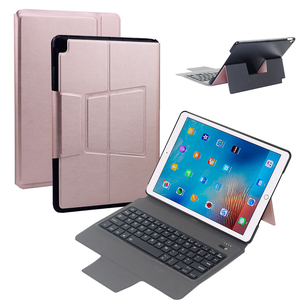 New PU leather + PC Bluetooth keyboard Case Cover For Apple iPad Pro 10.5 Smart Wake/Sleep keyboard Case Cover Skin mindewin wireless restaurant table buzzer waiter calling system 12pcs call button m k 1 and 2pcs watch pager m w 1 paging system