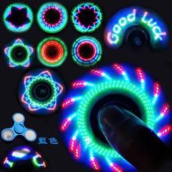Игрушка светящийся Спиннер светодио дный светодиодный стресс ручной Спиннер светящийся Темный Figet Spiner Cube EDC анти-стресс палец