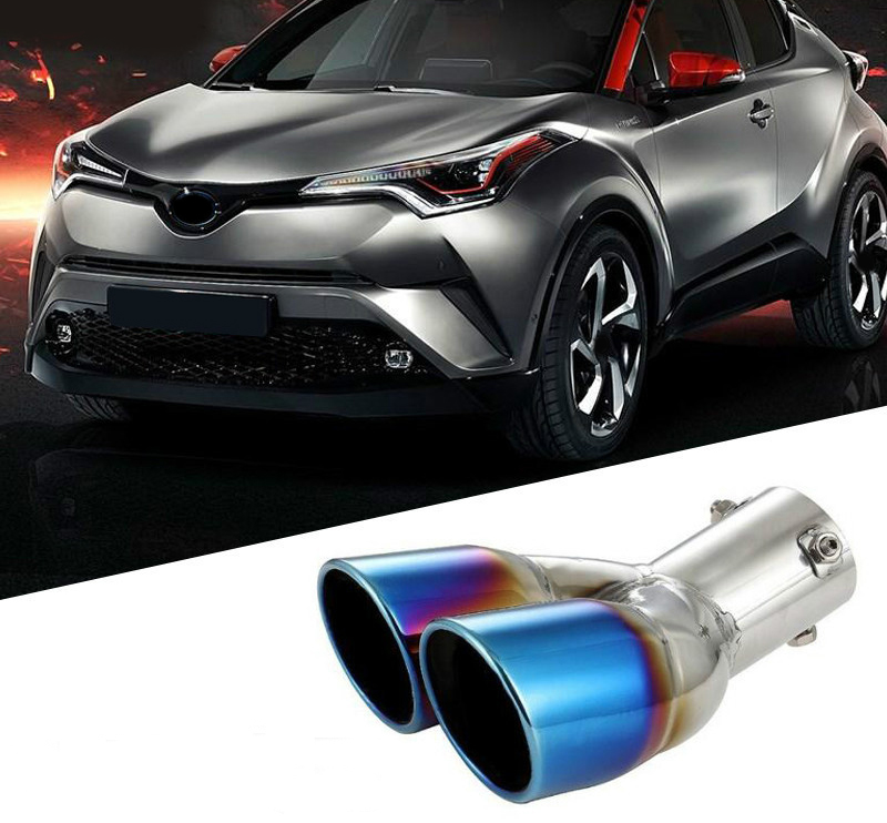 2016 2017 2018 For Toyota C-HR C HR Exterior Accessories Exhaust End Tip Pipe Muffler Stainless Steel 1 Piece