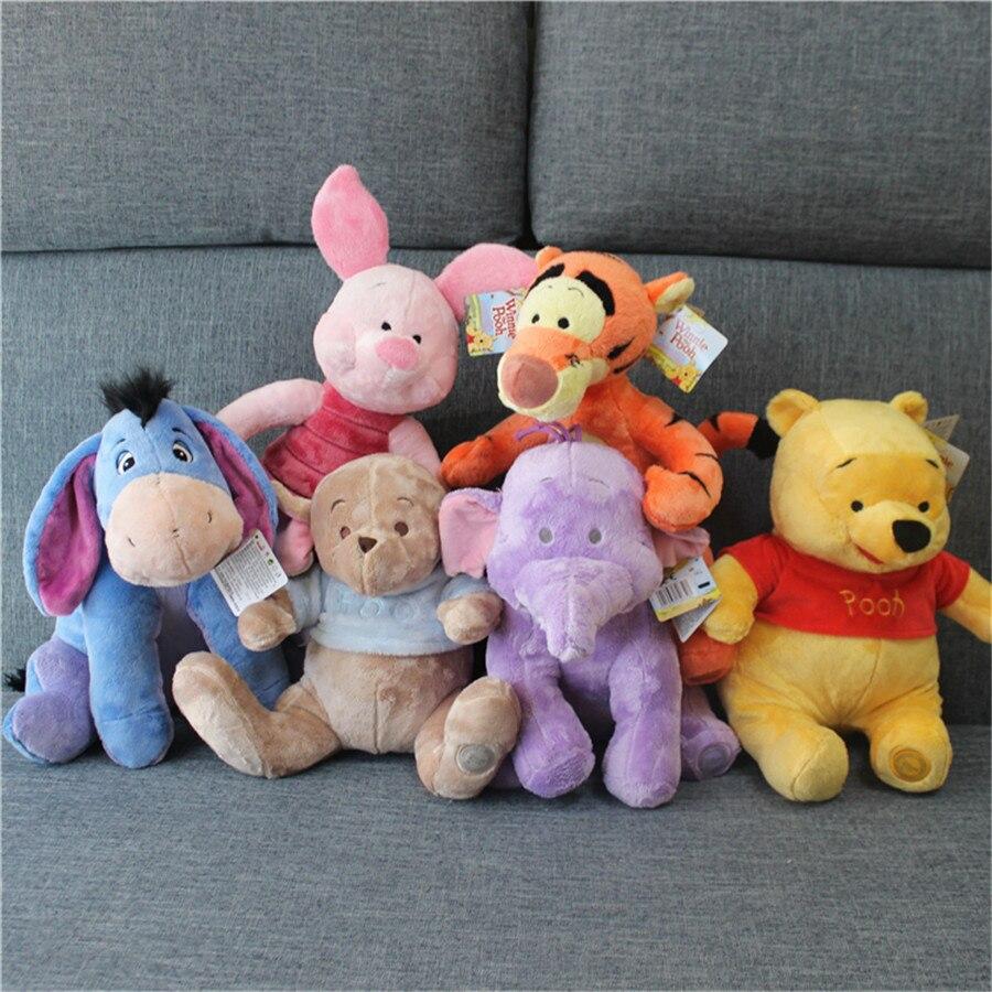 1 Piece Bear Tigger Eeyore Donkey Piglet Roo Plush Toys Doll For Kids Gifts&Birthday