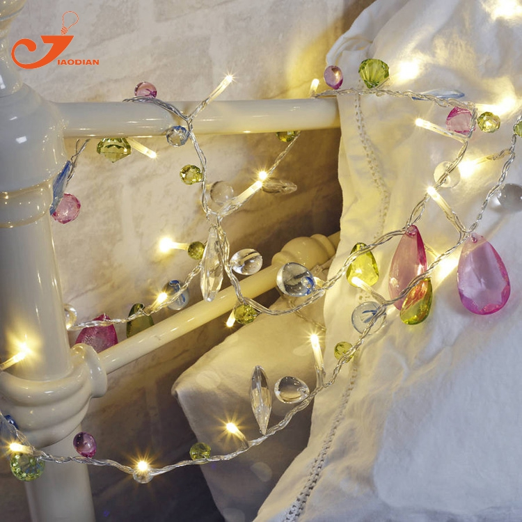 Diamond string lights garland fairy holiday led light chiildren party spring garden lights battery powered party 3V AA indoor ...