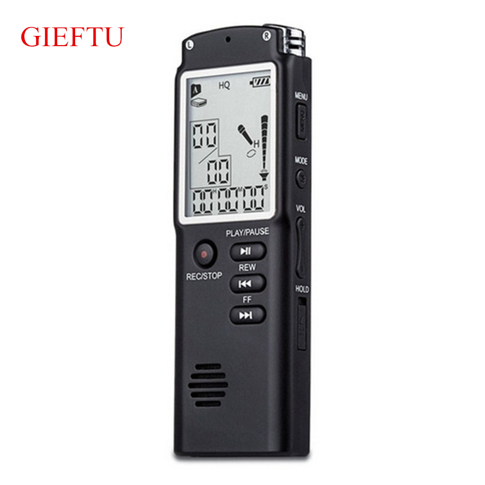8GB Professional T60 Time Display Recording Digital Voice Audio Recorder Dictaphone MP3 Player free shipping new 8gb digital voice audio digital recorder recorder dictaphone with mp3 player function