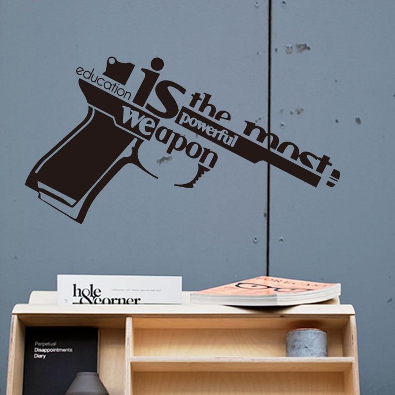Art Design Vinyl Wall Sticker Education Is The Most