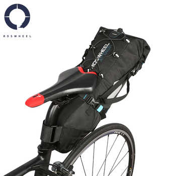 Roswheel 10 LWaterproof Cycling Bicycle Bike Saddle Bag Seat Tail Rear Pack MTB Storage Pouch Carrier ATTACK Series 131372 - DISCOUNT ITEM  35% OFF Sports & Entertainment