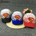 2017 child Sports Diamond superman Baseball Caps Outdoor golf Vintage Embroidery Snapback Hat Hip Hop Casual hats wholesale