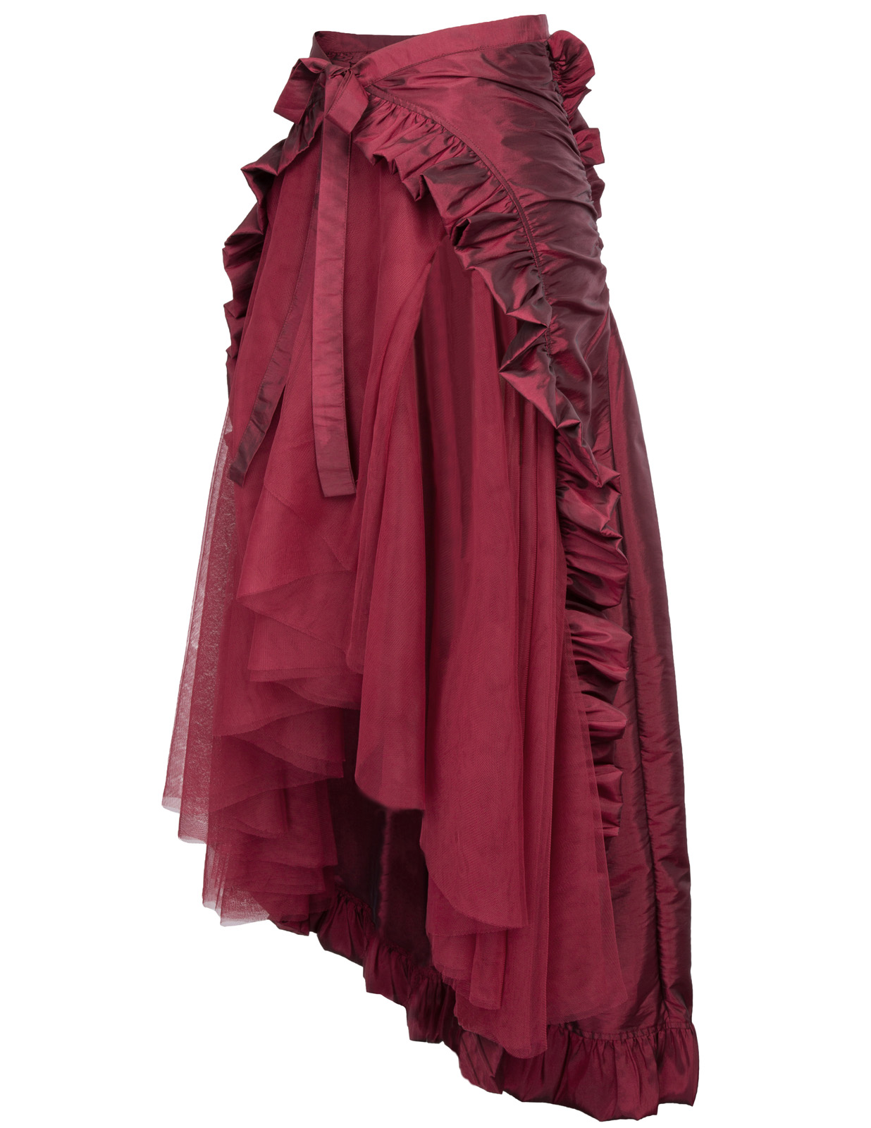 2018 High Quality Fashion elegant New style Steampunk Retro Victorian Lolita Punk Ruffled Long Lace-up Open Skirt