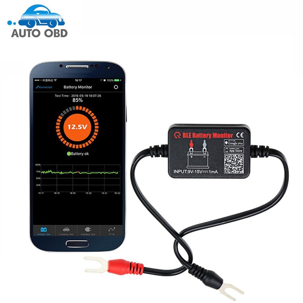 Prix pour Batterie de voiture Testeur Bluetooth Batterie Moniteur 12 V Batterie Analyseur De Charge Démarrage Tension D'essai Pour Android IOS Téléphone