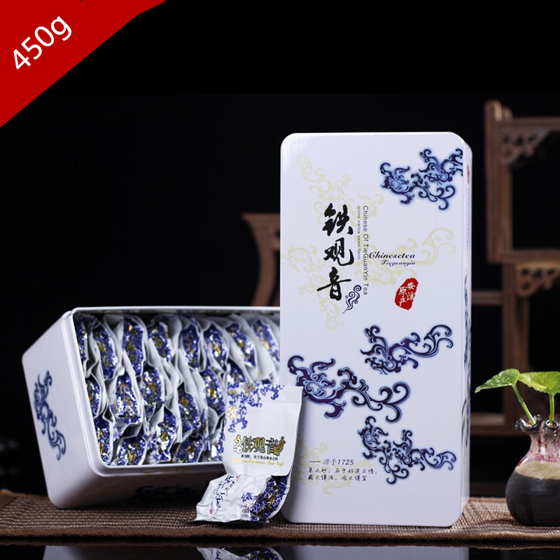 1725 Superior Gift Box China Food 250g Anxi Tie Guan Yin Green Tea Chinese Oolong Natural Organic Health Fit to Lose Weight