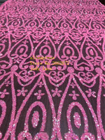 5yards/bag Pink line glitter pink fabric fluorescent color fabric used for wedding dress fashion HL107#