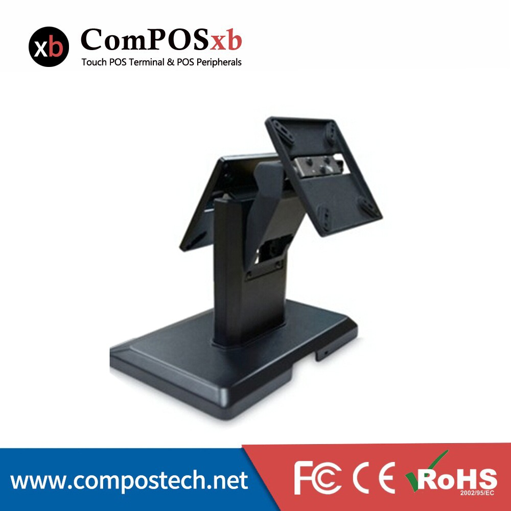 POS base, monitor screen base, bracket. Stand support double screen VESA 100*100mm/75*75mm