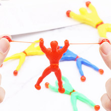 2pc/5pc Kids Funny Sticky Wall Men Climber Elastic Spider Man Toys For Children Wall Climbing Super Hero Figure Toys Gifts(China)