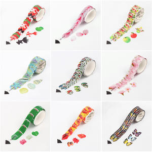 Stickers Paper-Tape Flower-Petals Decor Fragrance Scrapbooking 10-Styles-Masking-Tape