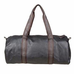 Image 2 - PU skórzane męskie torby podróżne codzienna torba na ramię marka mężczyźni torba torebka Tote Travel torba worek Vintage Sac De Voyage
