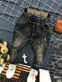 Pantalones Vaqueros chicos 2016 Nuevo Invierno del Otoño Del Bebé de Puntos de Pintura de Impresión Pantalones Casuales Exclusivo Personalizado Moda Niños Harem Pantalones 2-7años