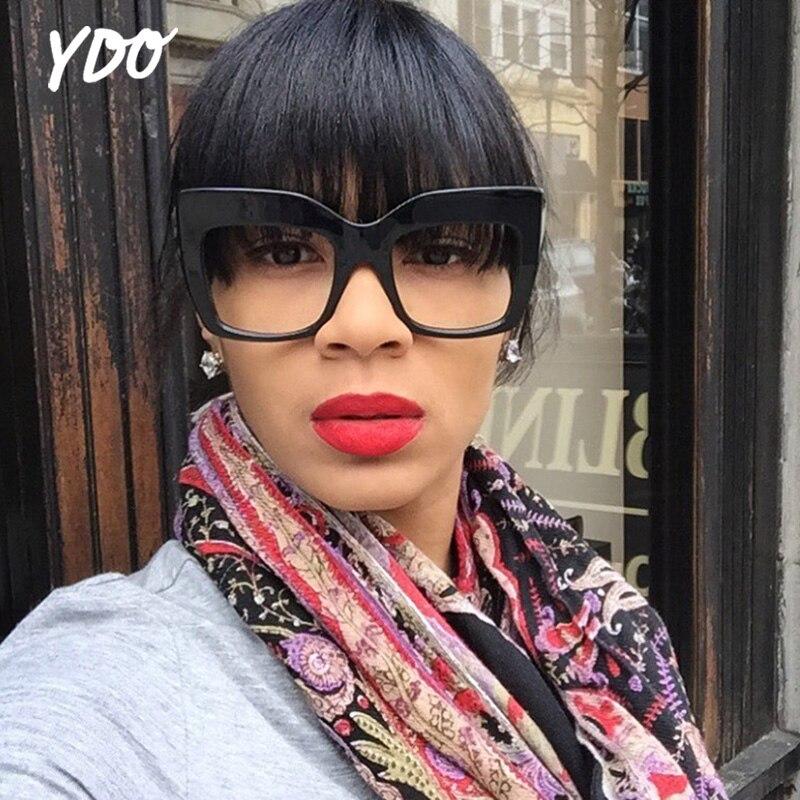 YDO Új Narancssárga Napszemüveg Női Divat 2018 Fekete Nagy Keret - Ruházati kiegészítők