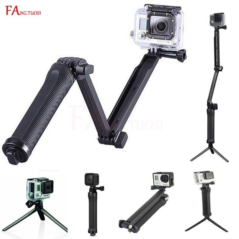 Monopod trípode para GoPro Hero 6 5 4 sesión sj4000 vp404 Pau palo impermeable selfie Stick para xiaomi Yi 4 K Cámara
