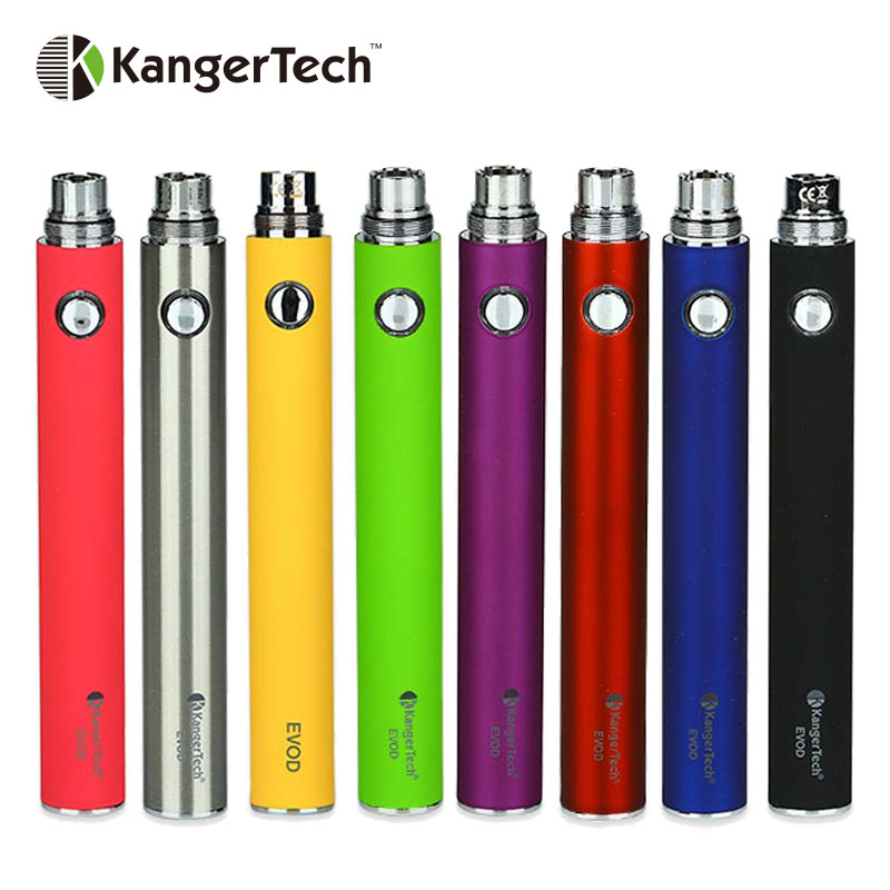 100% Original Kangertech EVOD Manual Battery Built-in Battery 1000mAh 15mm Diameter Mod Fit EGo Series Atomizer E-cigarette Mod
