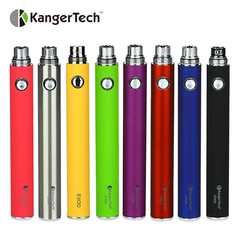 100% Originale Kangertech EVOD Batteria Built-In Batteria 1000 mAh Manuale 15mm Diametro Misura Mod Serie EGo Atomizzatore E-sigaretta sigaretta Mod