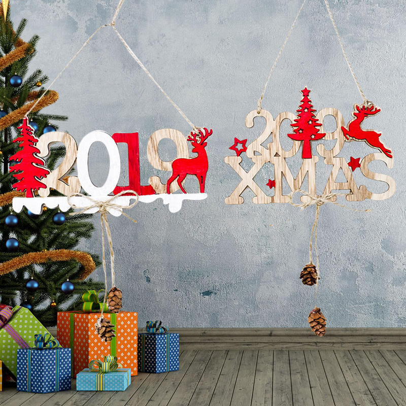christmas door signs new year 2019 xmas door wall hanging decorations for home office cafe restaurant party decoration gift in pendant drop ornaments from - Christmas Wall Hanging Decorations