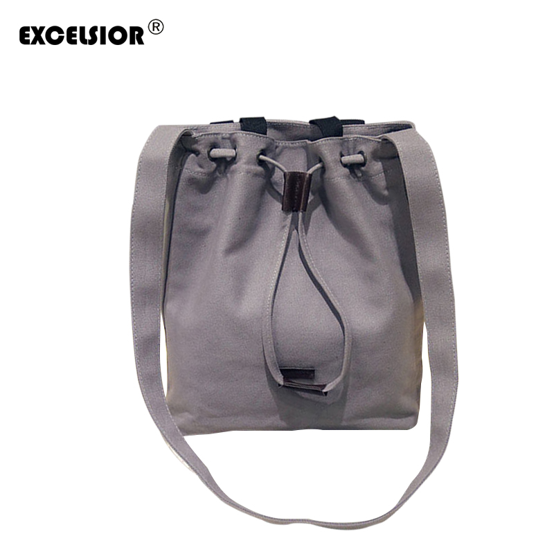 EXCELSIOR Hot Sale Song Hye Kyo New fashion women canvas handbag totes crossbody shoulder bag bucket bag Descendants of the sun стулья для салона hye sung