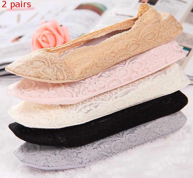 1 пара, женские японские модные хлопковые невидимые нескользящие носки до лодыжки, кружевные носки, корейские носки ярких цветов, 5 цветов