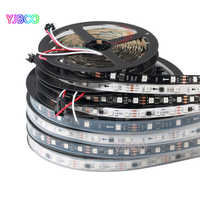 WS2811 DC12V led streifen 5 mt 30/48/60 leds/m, 10/16/20 stücke ws2811 ic/meter, Weiß/Schwarz PCB, 2811 led Adressierbare Digitale streifen