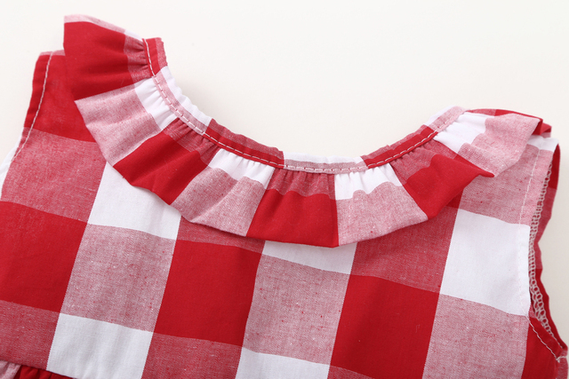 2019 Summer baby girl clothing set Plaid Skirted T-shirt Tops+Denim Short Bloomers Headband  baby girl clothes Newborn Outfits 3