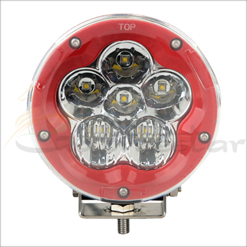 ФОТО 5inch round 60W LED DRIVING LIGHT 12V 24V LED WORK LAMP 6000Lm XML For Truck Mining Transport Auto Car SUV ATV UTV Tanks