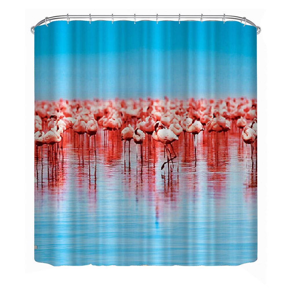 1PCS 180*180cm Retro Shower Curtain Mouldproof Waterproof Bath Curtain For Bathroom 1 PCS