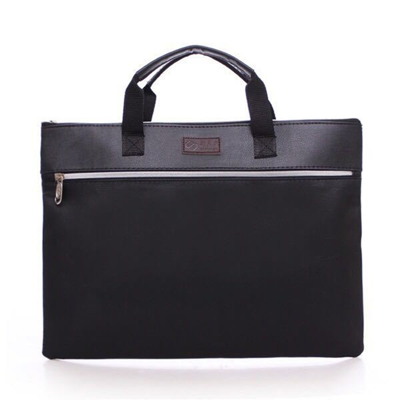 2019 A4 Bag For Office Man Woman Oxford Cloth Briefcase Business Men Ladies Portable Zipper  File Bag Double Deck Data Package