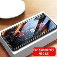 Aixuan Glass Case For Xiaomi mi 9/Mi9 Explorer/Xiaomi mi 9 SE Case painted Tempered Glass Silicon Protective full Cover Cases