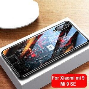 Image 1 - Aixuan ガラスケースシャオ mi mi 9/mi 9 エクスプローラ/シャオ mi mi 9 Se ケース塗装強化ガラスシリコン保護フルカバーケース