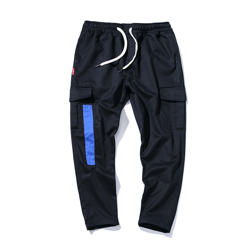 Spring Male Aristotle Pocket Work Clothes Trousers Day Leisure Time casual Pants Male Split Joint Will Code sweatpants Harlan