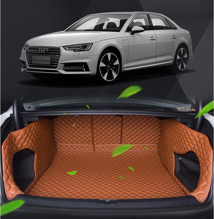 Full Rear Trunk Tray Liner Cargo Mat Floor Protector foot pad mats for 17 AUDI A4 A4L 2017 (6colors) FREE BY EMS