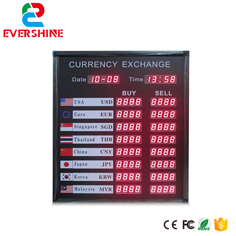 цена на High Brightness 1.2'' Red Color Indoor LED Signage Board LED Display Exchange Rate Board