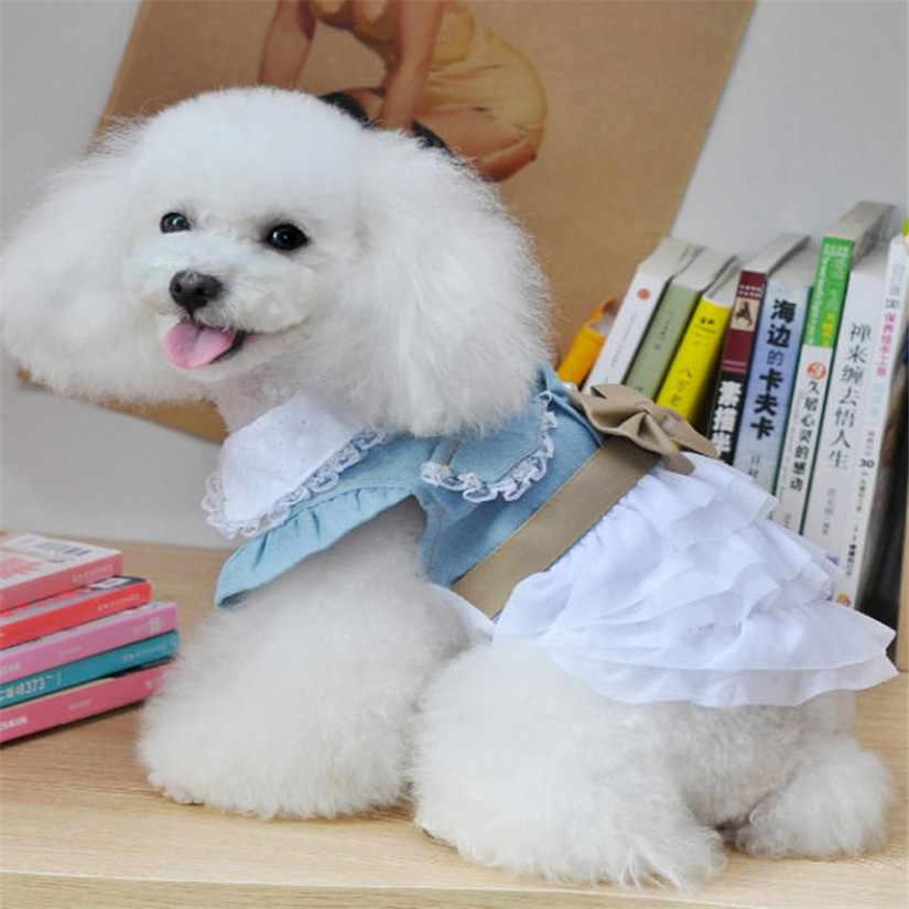 Новое джинсовое платье для собак забавная Одежда для собак Очаровательная Уютная рубашка для собак платье-пачка юбка одежда леверт Прямая поставка dig3 высокое качество