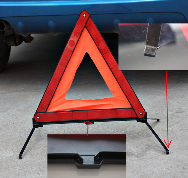 2pcs high quality foldable auto safety reflective warning signs