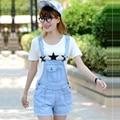2016 Summer Style Denim Shorts Plus size Korean Womens Jumpsuit Denim Overalls Casual Skinny Girls Pants Jeans Short  JN402