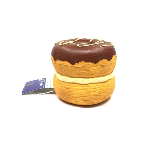 Original cafe de n croissant doughnut squishy soft and slow rising squishy toys squishy cake bread key chain kids toys donut