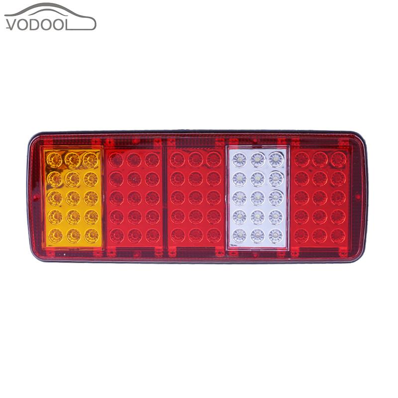 2Pcs Waterproof 75LED Truck Rear Light Car Pickup Vehicle Trailer Boat Caravan UTE Light-emitting Diode Taillight Lamp Panel 100w folding solar panel solar battery charger for car boat caravan golf cart