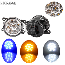 MZORANGE 9LED 6000K 12V DRL Fog Lamps Light for Mitsubishi for Renault for Ford  for Range Rover Daytime Running Light Lamp cawanerl 2 pieces car styling led fog light drl daytime running lamp white for land rover range rover iii suv lm 2009 2012