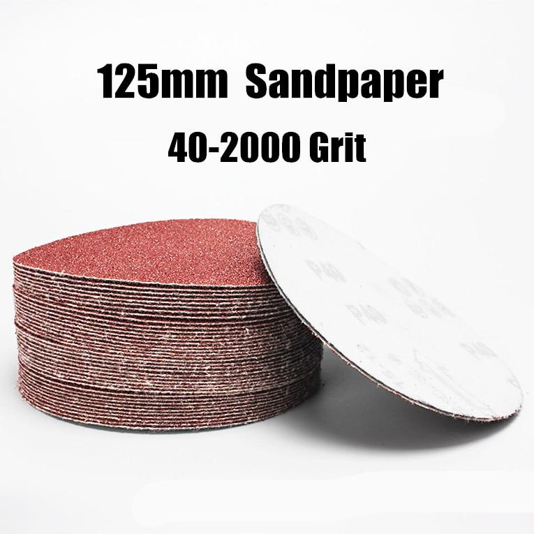 20pcs 125mm Sander Disc Sanding Polishing Paper Sandpaper Disc #20 - #2000 Abrasive Tools For Sander Grits