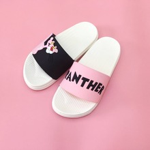 Hoge kwaliteit Roze Panther vrouwen slippers zomer zachte bodem slippers dames cartoon slippers thuis badkamer slipper