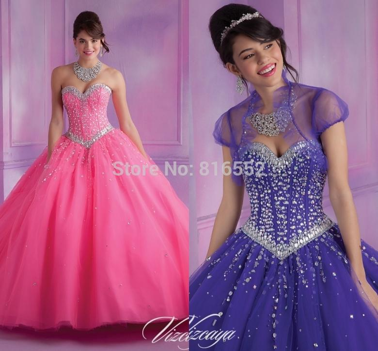Aliexpress.com : Buy 2017 New Sexy Blue Orange Purple Quinceanera ...