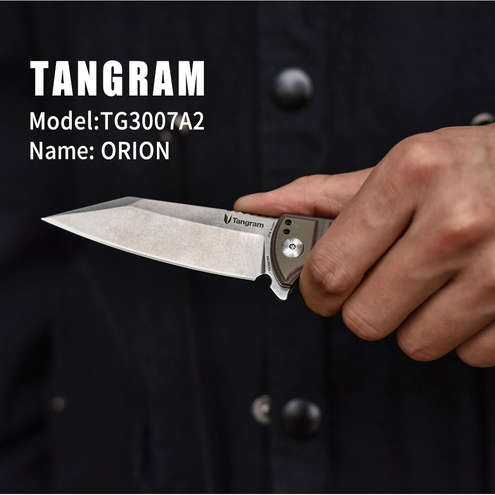 Quality Survival Knife Hunting Camping EDC TG3007A2 TANGRAM Knife Tools Mini Rescue Knife High Outdoor Knife Pocket