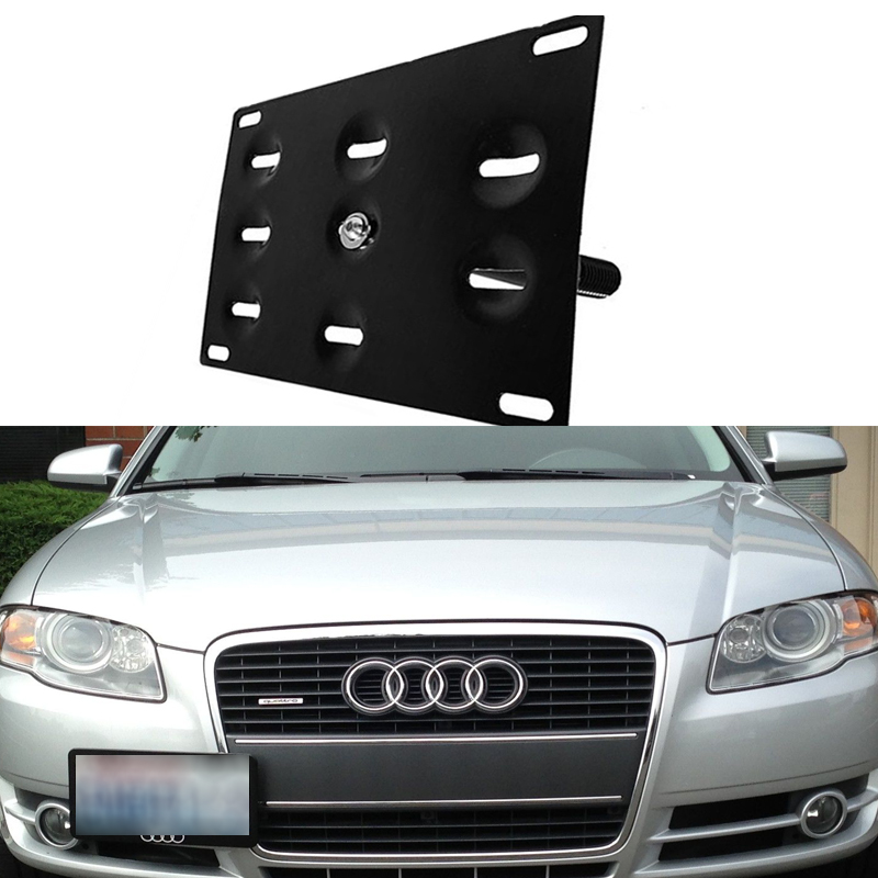 Audi A4 License Plate Frame: Bumper Tow Hook License Plate Mounting Bracket Holder For