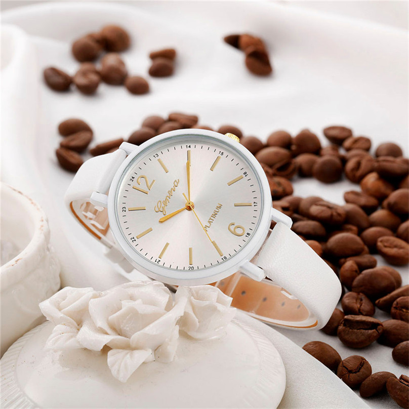 Fashion Women watches 2018 Casual Checkers Faux Leather Quartz Analog Dress Luxury Ladies Wrist Watch relogio feminino F70
